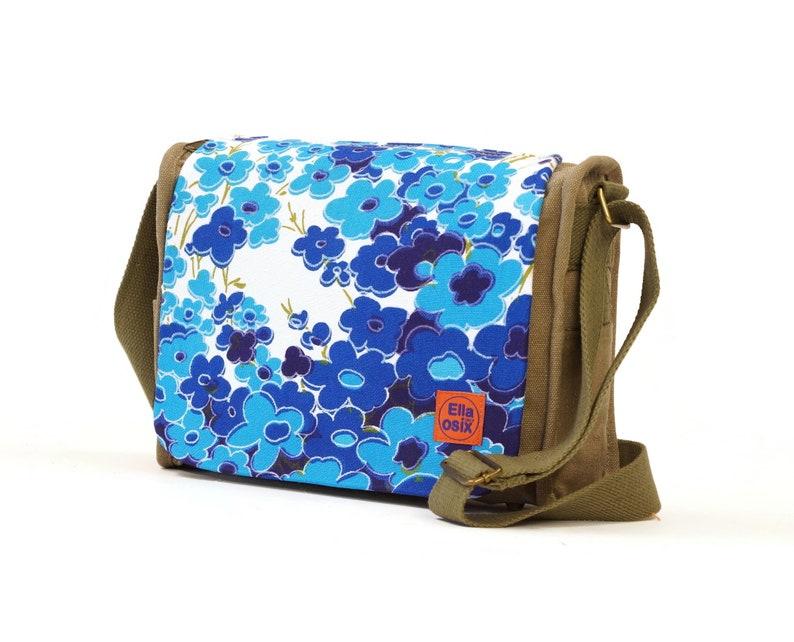 Vintage Fabric upcycled Canvas Saddle Bag by EllaOsix image 0