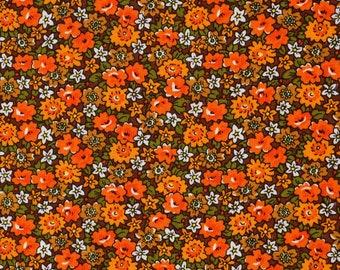 70s Floral Vintage Fabric - Dekoplus -  Unused Deadstock Condition - 90x120 cm
