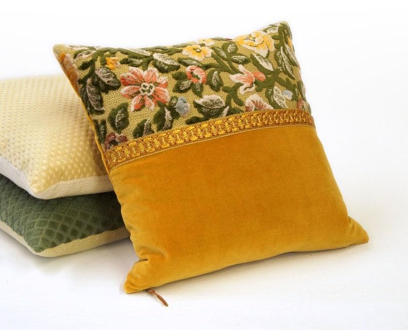 EllaOsix  Floral Cut Velvet Pillow Cover with Decorative image 0
