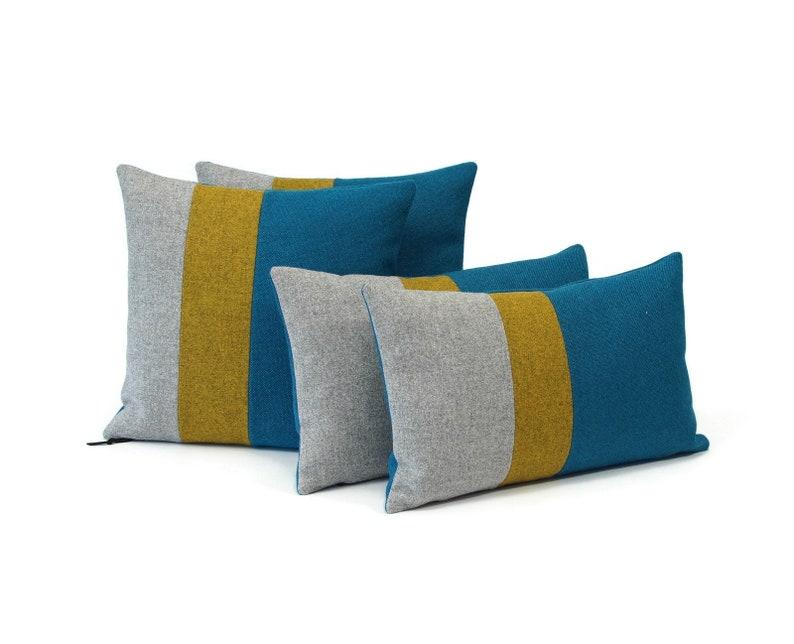 Luxury Modern Pillows  Color Block Pillow Case  Lumbar image 0