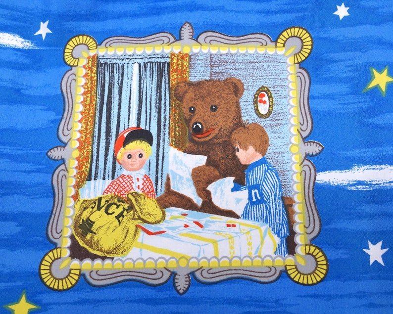 1.8 meter  1.9 yard Bear fabric Cartoon Fabric Vintage Children/'s fabric Dutch fabric cotton fabric unused fabric