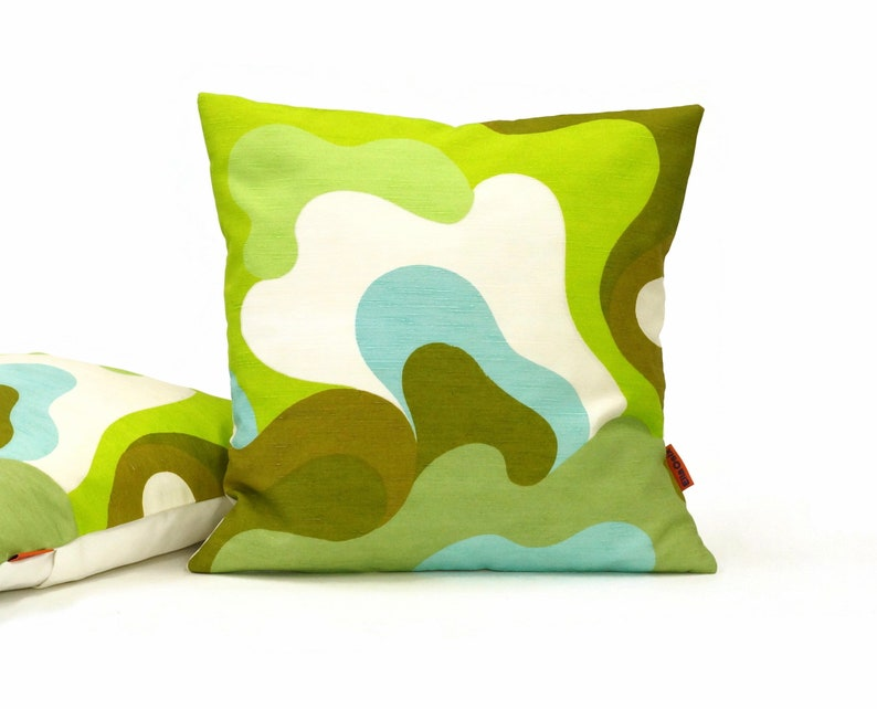 Abstract Mid Century Pillow Cover  Handmade from original image 0