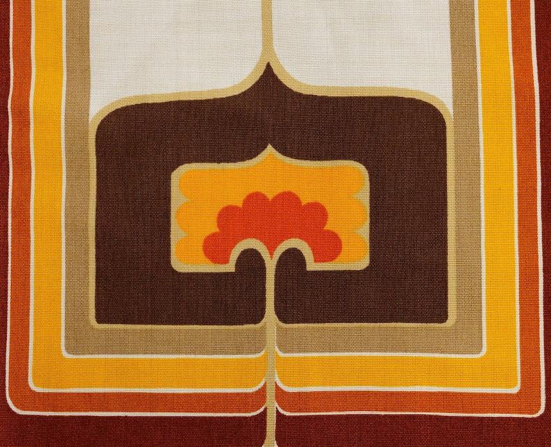 Original 70s Fabric Op Art Decor 100x120 cm  39x47 image 0