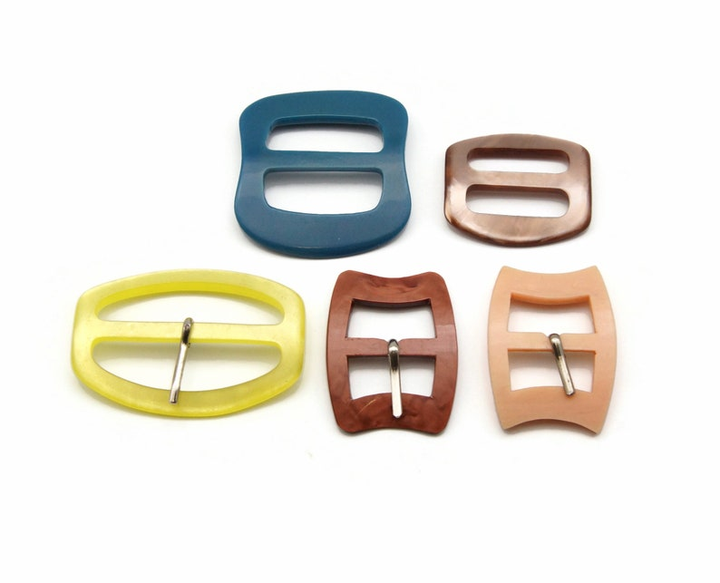 5 Belt and Sash Buckles in different colors and sizes image 0