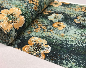 70s Vintage Fabric by the Yard -  curtain fabric - pillowcase fabric - mid century home decor fabric - deadstock fabric