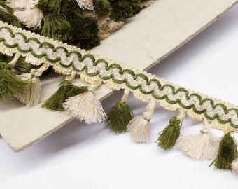Vintage Tassel Trim by the yard - fringe trim - home decor trim - pillow trim - upholstery trim- curtain trim - lampshade trim