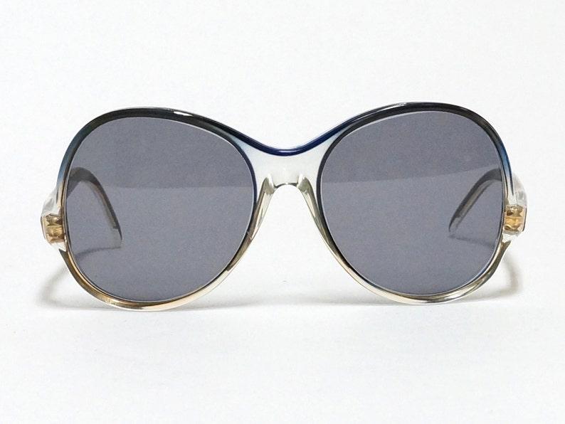 8e8f8e39fa5 Lunettes de soleil Vintage NINA RICCI ronds bleus lunettes