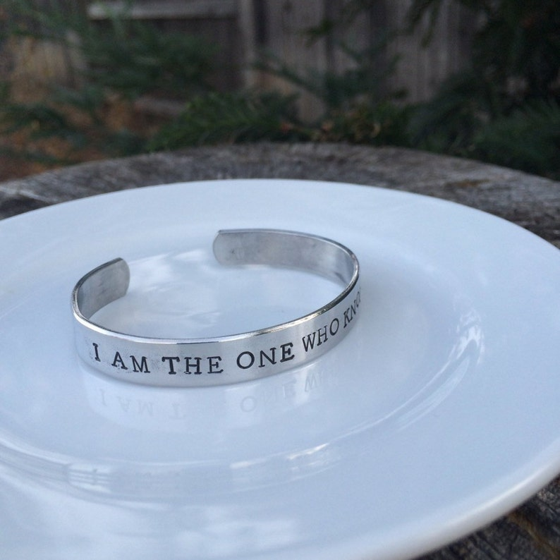 I am the one who knocks Breaking Bad inspired hand stamped image 0