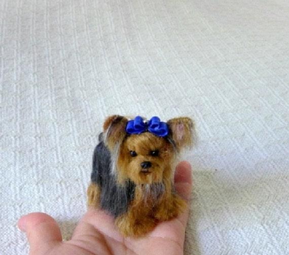 Personalized Gift  Needle Felted Dog  Custom Pet Portrait  Lifelike Poseable Artist Sculpture  small size