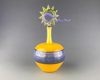 Infinite Horizon - Flameworked borosilicate glass vessel by Beau Barrett