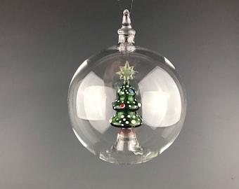 Inner Christmas - Lampwork glass ornament by Beau Barrett