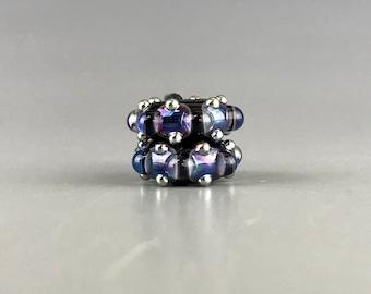 Royal Psyche Discs Pair Lampwork Glass Beads by Shani Barrett