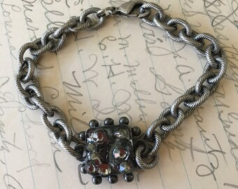 Handmade Bracelet Jewelry Swarovski Crystals Silver Tone