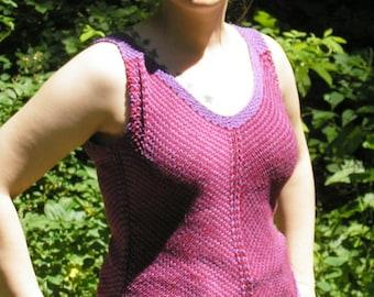 Knitting Pattern - Summer Ripples Tanktop