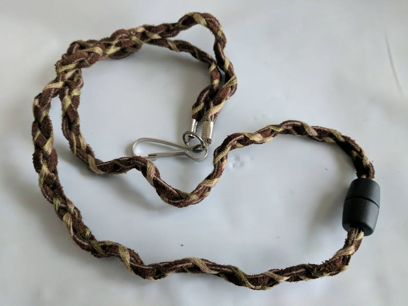 Weekend Warrior Leather quick-release lanyard ID badge holder image 0