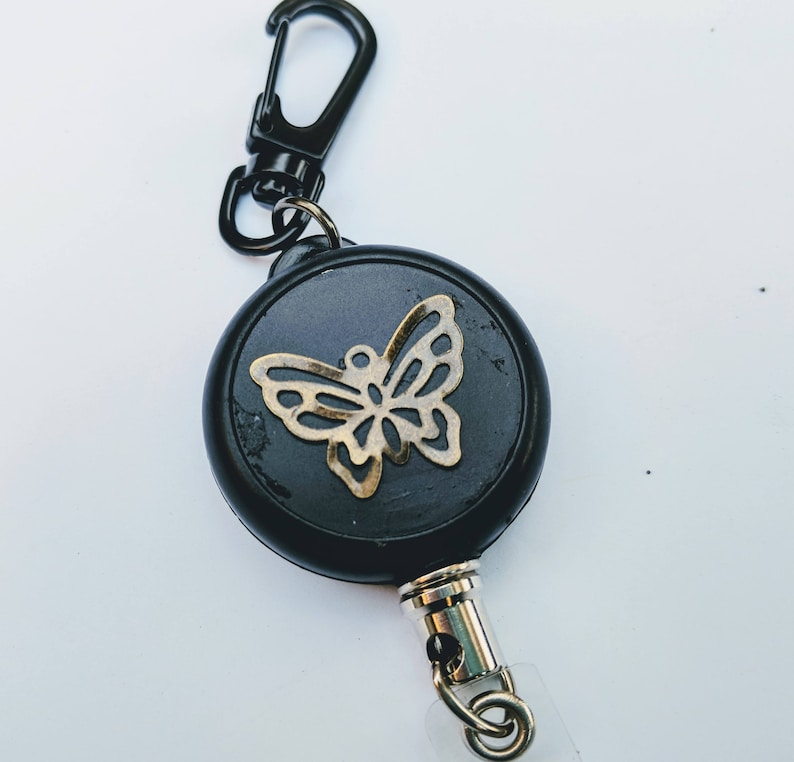 Butterfly HEAVY DUTY Steel Cable Badge Holder image 0