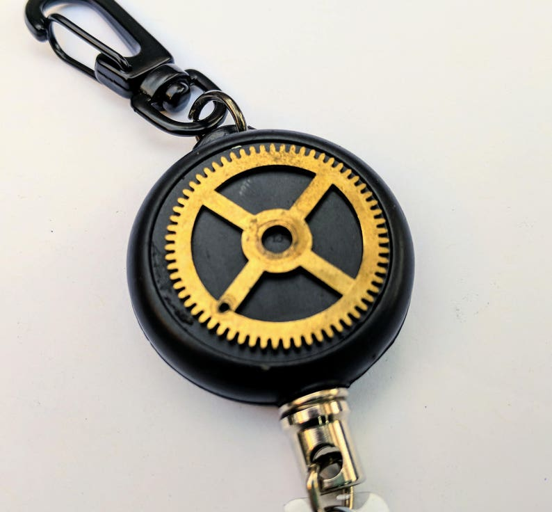 Unique Gear HEAVY DUTY Steel Cable Badge Holder image 0