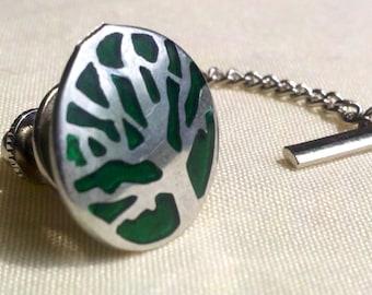 Green Tree tie tack