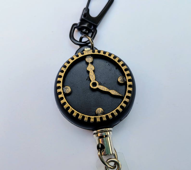 Clockwatcher HEAVY DUTY Steel Cable Badge Holder image 0