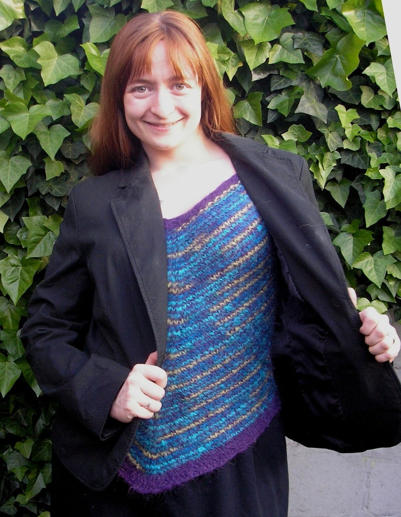 Knitting Pattern  Winter Ripples Layering Top image 0