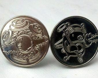 Pinball Wizard cuff links