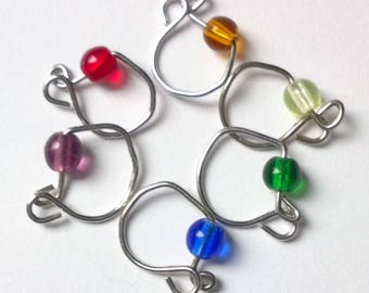 Rainbow removeable stitch markers