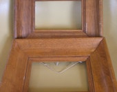 Two Vintage Rustic Wood Picture Art Frames 6 x 4