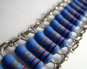 Periwinkle oxide resistor bracelet
