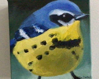 Small Painting of Kirtland's Warbler