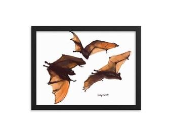 Halloween Bats- Framed poster