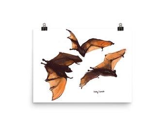 Halloween Bats- Poster