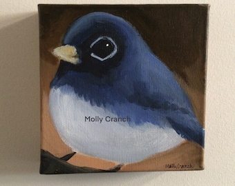 Wall Decor- Painting of a Dark-Eyed Junco