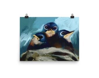 Barn Swallow Nest- Poster