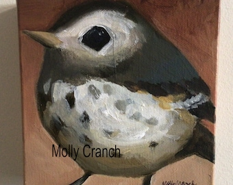 Small Acrylic Painting on Canvas- Pipit