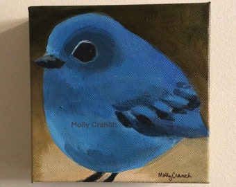 Original Acrylic Painting- Mountain Bluebird