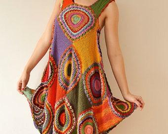 Plus size clothing/Plus Size dress/Crochet Dress Tunic/Midi Boho Summer Dress/Maternity clothes/  Lace Dress/Day dress/Bohemian dress