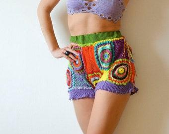 Boho Lace Summer Shorts - Plus Size - MADE TO ORDER