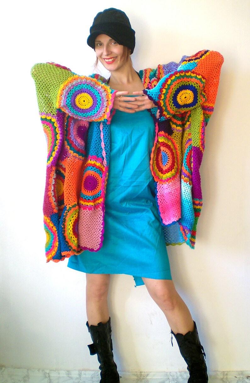 a87ee87a477b6 Wearable Art Plus Size Open-Front Cardigan Women  Oversize