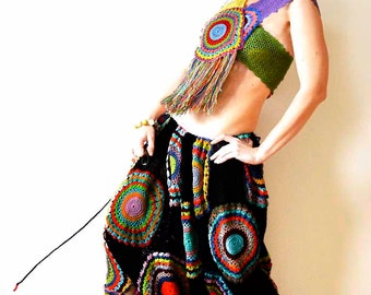 Funky Crochet Harem Pants and Top - MADE TO ORDER