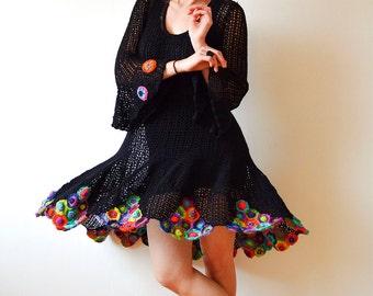 Black Crochet Summer Dress - MADE TO ORDER