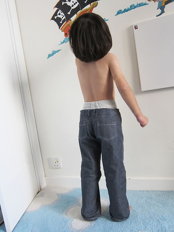 Patrón de costura PDF doble cintura pantalones / pantalones   Etsy