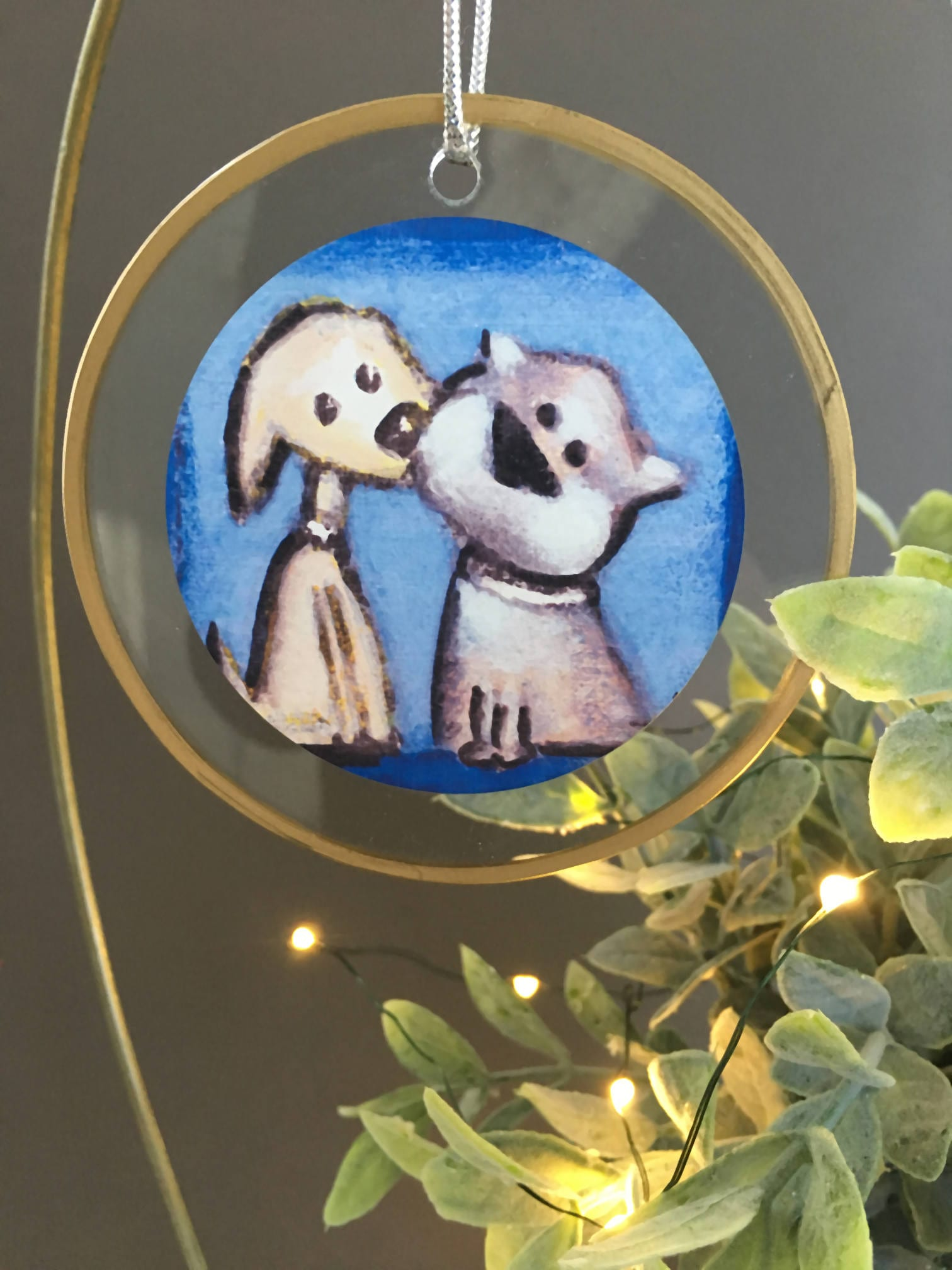 Puppy Kiss Christmas ornament, gift for dog lovers, unique ornament ...