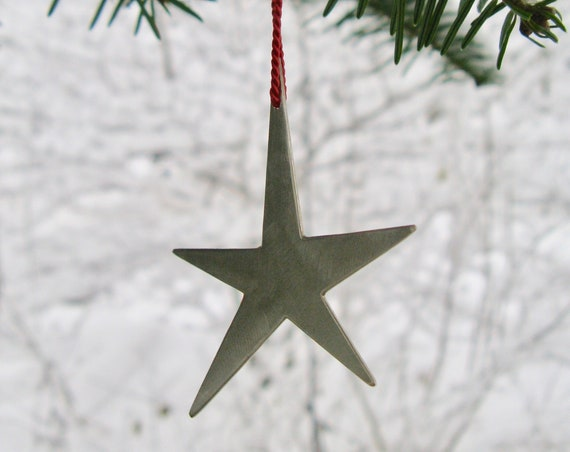 White Brass Star Ornament