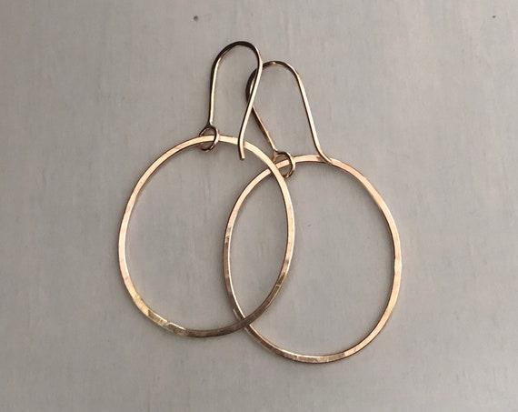 Handmade 14k Gold Fill Simple Hoops Medium