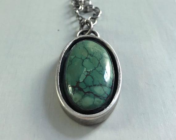 Handmade Sterling Silver and Turquoise Necklace