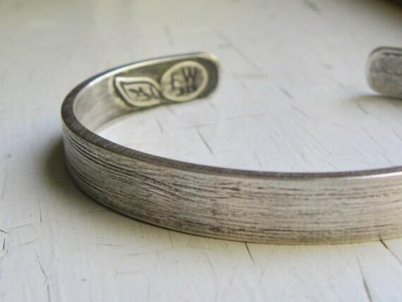 Chunky Unisex Sterling Silver Cuff Bracelet / size Medium