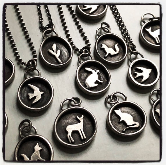 Tiny Handmade Sterling Silver Story Neclace
