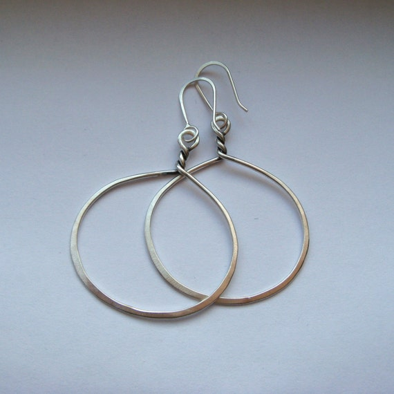Sterling Silver Twisted Hoops Medium