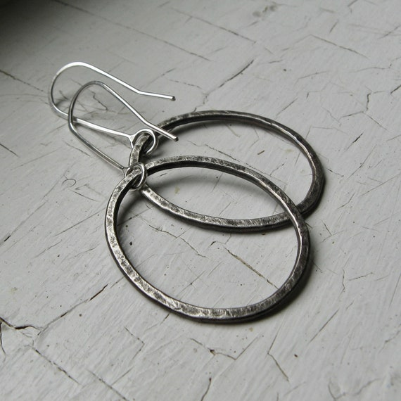 Medium Organic Granite Hoops