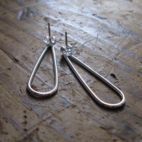 Sterling Silver Teardrop Post Earrings